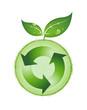 Logo de recyclage à feuilles
