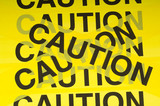 Caution Tape Background poster