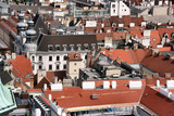 Vienna - city roofs seen from the top of Stephansdom tower poster