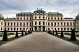 Belvedere castle in Vienna. Vintage landmark of Austria. poster