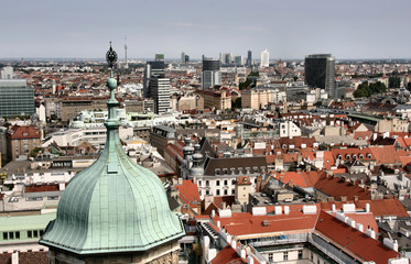 Vienna aerial view - old town