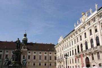 Hofburg palace courtyard. Vienna historic landmark.