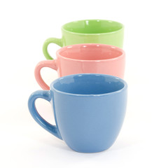 color coffee cup studio isolated