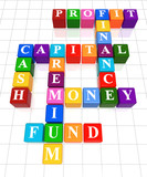 3d colour - money, finance, capital, cash, profit, fund, premium poster
