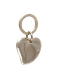 heart- shaped metal locket isolated on white