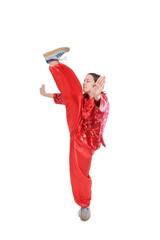Kung fu girl high kick