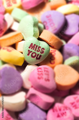 Miss you candy heart