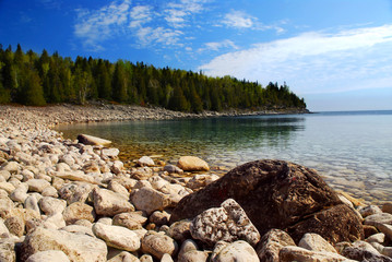Clear waters of Georgian Bay, Ontario Canada
