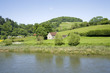 The valley of the river wye wales england border