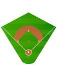 Terrain de baseball poster