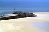 The beach at carteret, the cotentin peninsula poster