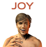 young man face expression - smile - joy - 3d render image poster