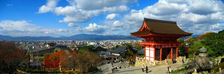 Panoramic of Kiyomizu Temple in Kyoto