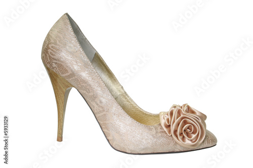 female shoe isolated on white