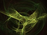 Abstract fractal background. Magical fluids. poster