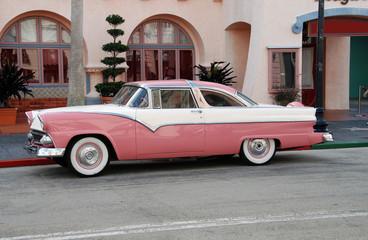 Retro pink automobile