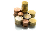 Euro Coins Stack. Finance Series. poster