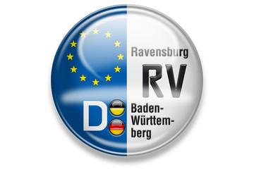 Autokennzeichen: RV, Ravensburg, Baden-Württemberg
