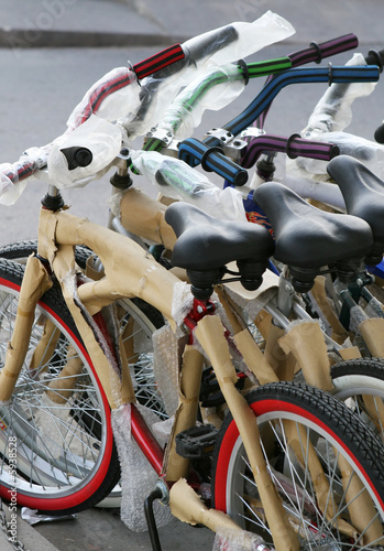 New bikes are lined up for sale