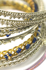 fashion bracelets from asia on white