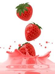 saft splash mit erdbeeren