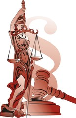 Lady Justice and paragraph symbol