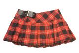 red rumpled checkered short skirt poster