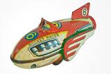 old rocket racer toy poster