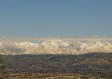San Bernardino Mountains in Winter with Snow and Clouds