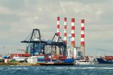 Industrial port poster