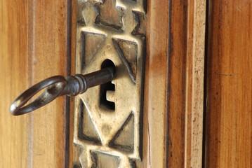 clef et serrure ancienne
