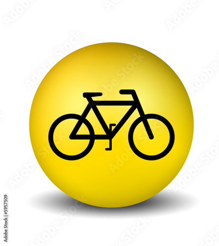 bicycle symbol - yellow