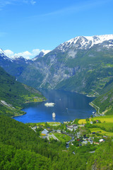 Nice View to the Atlantic ocean, Geiranger fjord