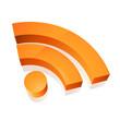 Icone RSS en 3D, image vectorielle
