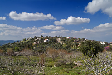 The Jewish Village of Michmanim in the Galilee Israel