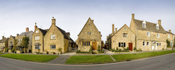 Town houses on the high street broadway cotswolds