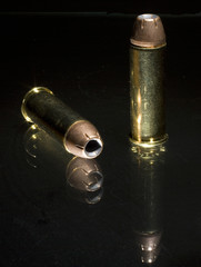 .44 Magnum ammunition with hollow point bullets