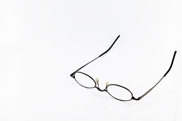 Reading Glasses Over White