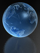 Blue Glass globe with reflection