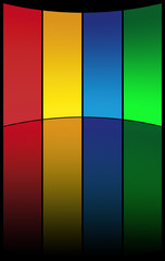 sfondo arco colorato