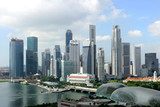 Fototapety Skyline of Singapore business district, Singapore