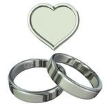 3D rendering, platinum wedding rings poster