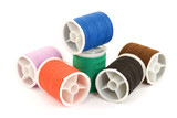 tailor thread various colors isolated poster