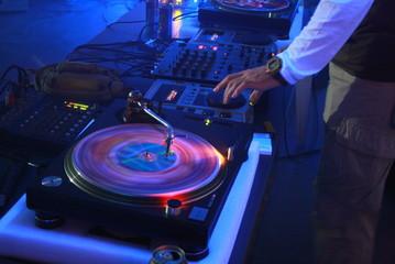 Vinyl disc rotation