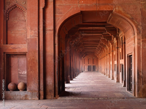 Red Archways in Mosque