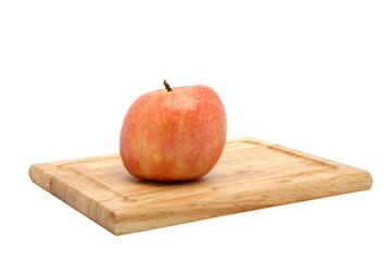 York Apple on Cutting Board