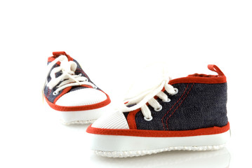 sporting shoes for a little baby
