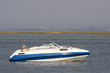 luxury recreation boat in the ocean - 5988766