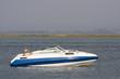 luxury recreation boat in the ocean