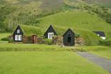 Fototapeta Iceland tradition houses